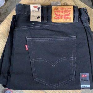 40 32 Levi's 550 Black Denim Jeans Men's